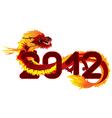 dragon 2012 vector image vector image
