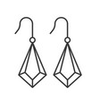drop earrings jewelry set outline icon vector image