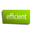 efficient green paper sign isolated on white vector image vector image