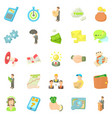employee of the bank icons set cartoon style vector image vector image