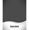 Empty realistic black board school in format vector image