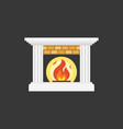 fire and fireplace icon flat design vector image