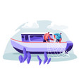 fishermen working on fishery industry on boat ship vector image