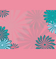 flat art holiday card daisy on pink background vector image vector image