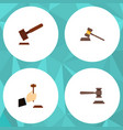flat icon lawyer set of legal law justice and vector image vector image