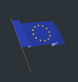 flat style waving european union flag vector image vector image