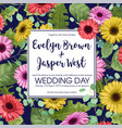 floral template wedding invitation save date vector image