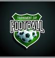 football tournament label design vector image vector image