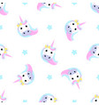 funny unicorn and stars seamless pattern for the vector image vector image