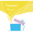gift box with ribbon and big yellow bubble vector image
