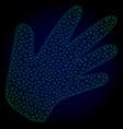 hand polygonal frame mesh vector image