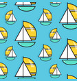 holiday voyage pattern summer water trip vector image vector image