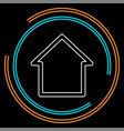 home icon real estate house vector image vector image