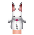 isolated rabbit puppet vector image
