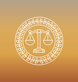 juridical and legal logo and sign vector image
