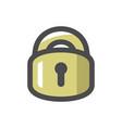 lock locking door icon cartoon vector image