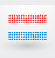 luxembourg flag made up of small dots vector image vector image