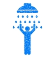 Man Under Shower Grainy Texture Icon vector image vector image