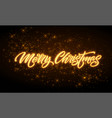 merry christmas neon lettering vector image