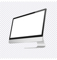 modern computer blank display isolated on vector image vector image