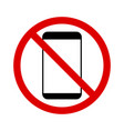 no smartphone simple icon isolated on a white vector image