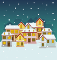 Old winter town vector image vector image