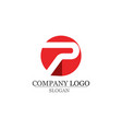 p logo letter business corporate design vector image vector image