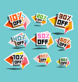 paper sale labels discount prices tags vector image vector image