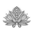 Persian or turkish paisley flower vector image vector image