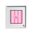pink striped background in a gray frame with the vector image vector image