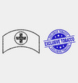 pixelated medical cap icon and distress vector image vector image