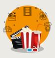 pop corn cinema enterainment vector image vector image