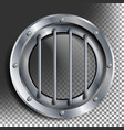 porthole round silver window with rivets vector image