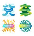 probiotics logo icon collection digestive health vector image vector image