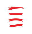 ribbons design vector image