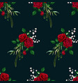 roses seamless pattern card for design vector image vector image