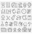 School education - icons set vector image