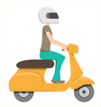 Scooter riding vector image