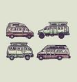 set campervan vector image