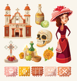 set items for day dead vector image vector image