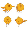 set of cute cartoon chickens for print game web vector image vector image