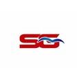 SG letter logo vector image vector image