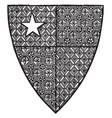 shield robert de vere are close advisor of vector image vector image