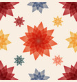 summer red and blue flowers vector image vector image