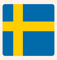 sweden square flag button social media vector image