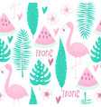 tropical concept with flamingo vector image
