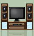 TV table vector image vector image
