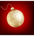 Twinkling gold bauble EPS 10 vector image vector image