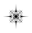 wind rose abstract silhouette vector image