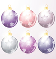 winter holiday of christmas balls vector image vector image